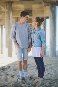 Jake and his wife Katherine at Huntington Beach Pier. Photo taken by Bailey Webster.